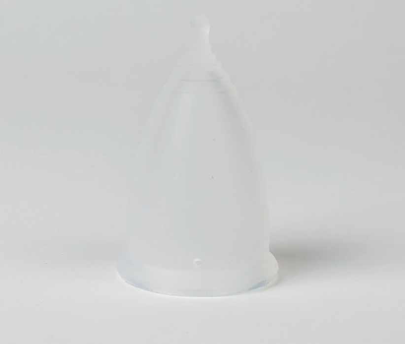 V-CUPS Model 2 Frosted Clear Menstrual Cup - Made in the USA - V-CUPS