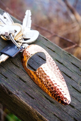 Hammered Copper-3/4oz Bottle Opener