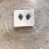 2138 INLAY ARROWHEAD  STUD EARRINGS