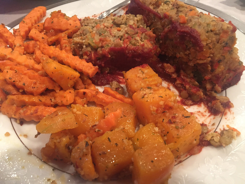 Vegan Lentil Loaf with BBQ Glaze