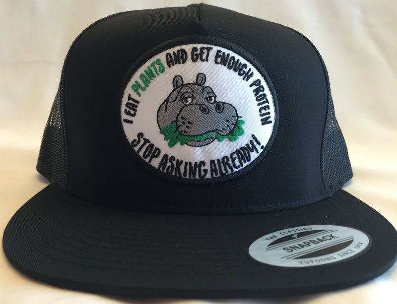 Limited Edition Hippo Patch Trucker Black on Black