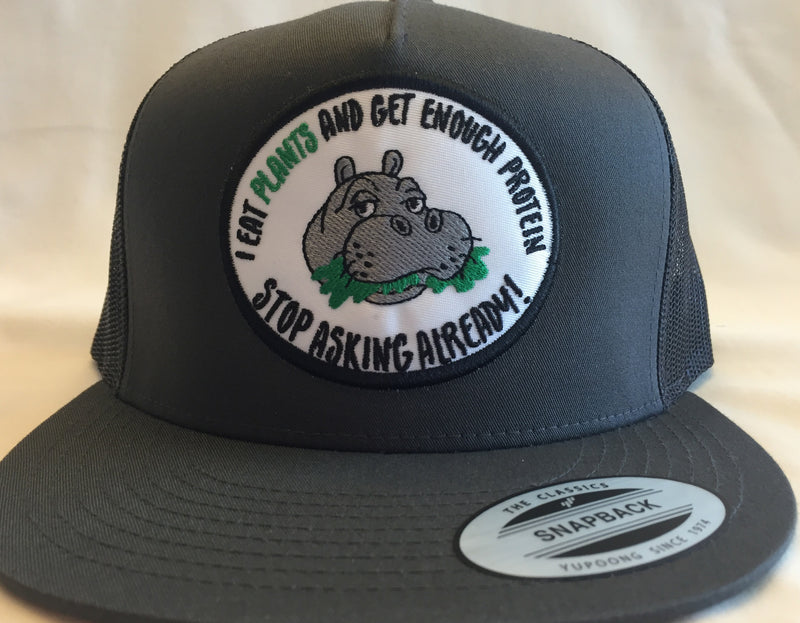 Limited Edition Hippo Patch Mesh Trucker Charcoal