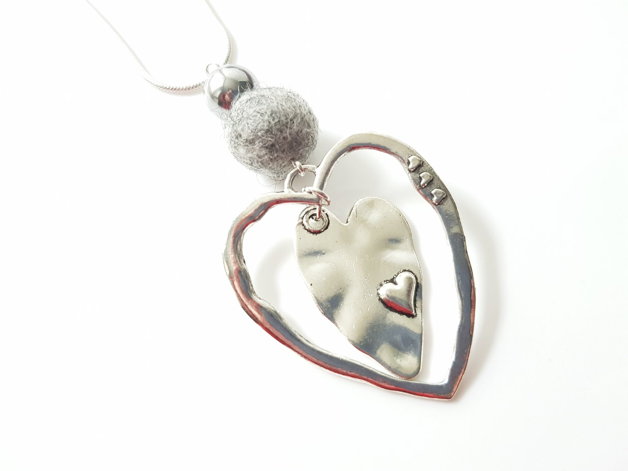 Sleek Heart Pendant - Orange