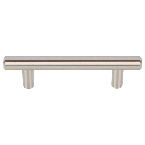 Brushed Nickel Bar Cabinet Handles Drawer Pulls 3 Inch Centers 10 Pck.