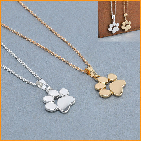 Cute Dog Footprints Necklace