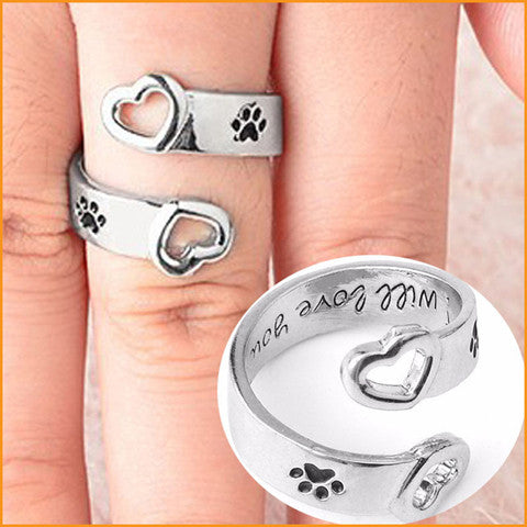 Love Dog Paw Ring
