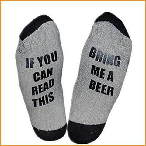 Beer Wine Funny Letter Print Socks Free + Shipping