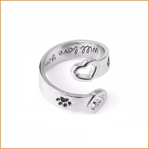 Love Dog Paw Ring Free + Shipping