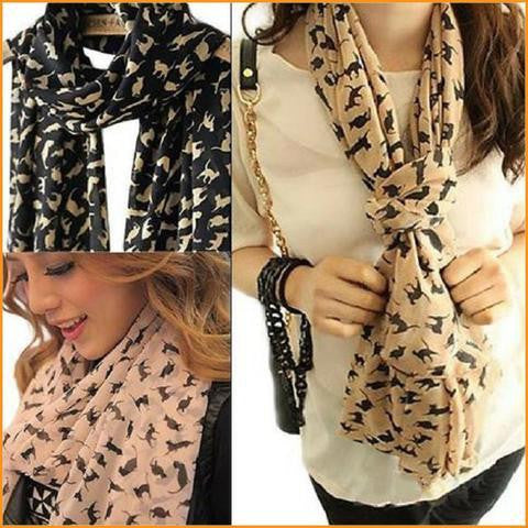 Sweet Cartoon Cat Scarf
