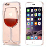 Red Wine Cup Case Cover For Apple iPhone 4 4S 5C 5 5S 6 6S 6 Plus All Models