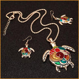 Turtle Necklace & Earrings Set Free + Shipping