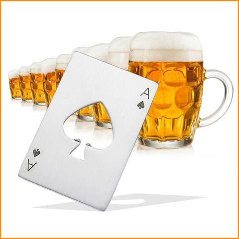 Poker Card Shape Beer Opener Free + Shipping