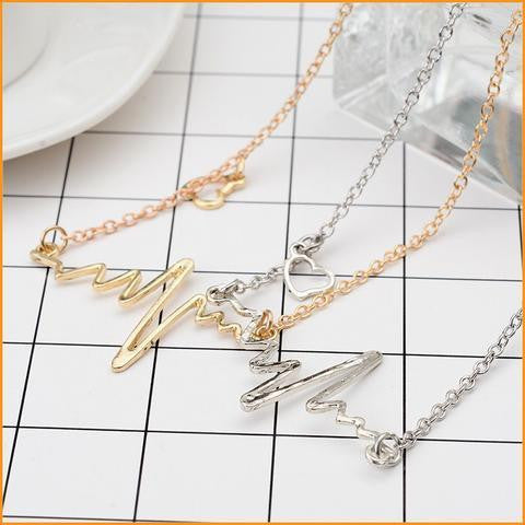 ECG Heartbeat Necklace Free + Shipping