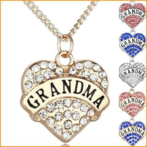 Vintage Grandma Pendant Necklace Free + Shipping