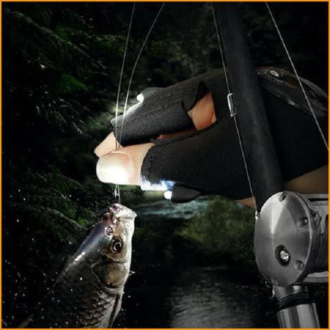 Fishing Glove With LED Flashlight