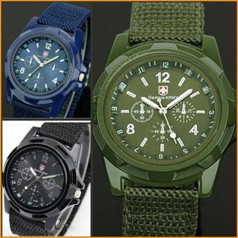Canvas Military Sport Style Watch Free + Shipping