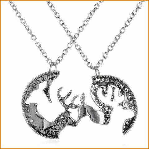 Deer Head Charm Couples Necklace Free + Shipping