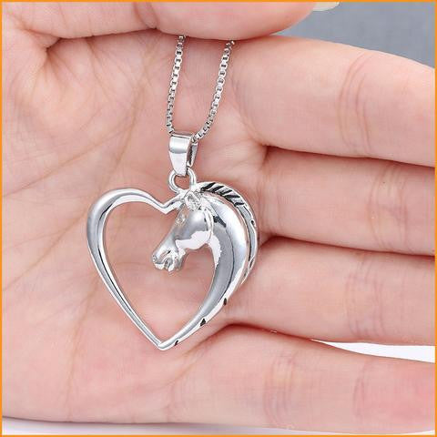 Horse Heart Pendant Necklace Free + Shipping