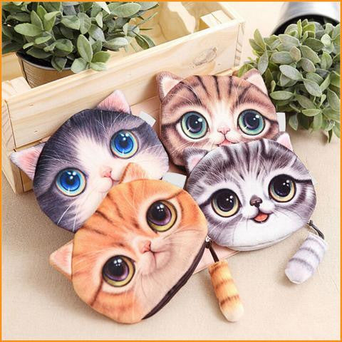 3D Cat Designed Wallet Free + Shipping