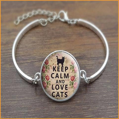 Keep Calm and Love Cats Bracelet Free + Shipping