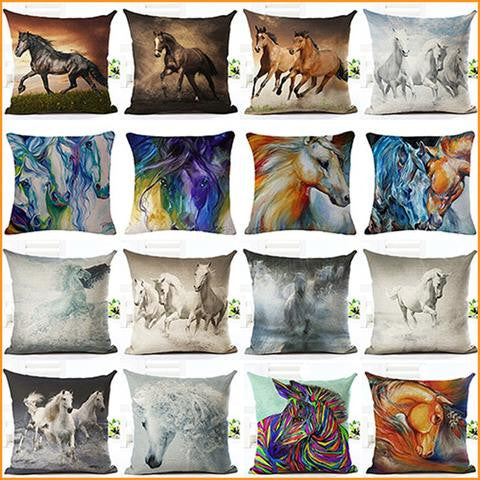 3D Horse Pillow Cushion Case Free + Shipping