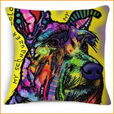 Colorful Dog Pillow Cushion Cover Free + Shipping