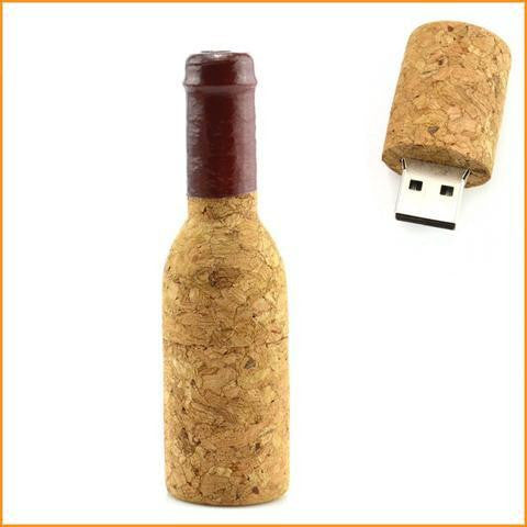 USB 3.0 High Speed Red Wine Bottle Flash Drive