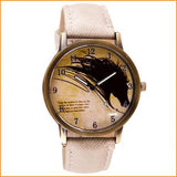 Vintage Horse Painting Quartz Wrist Watch