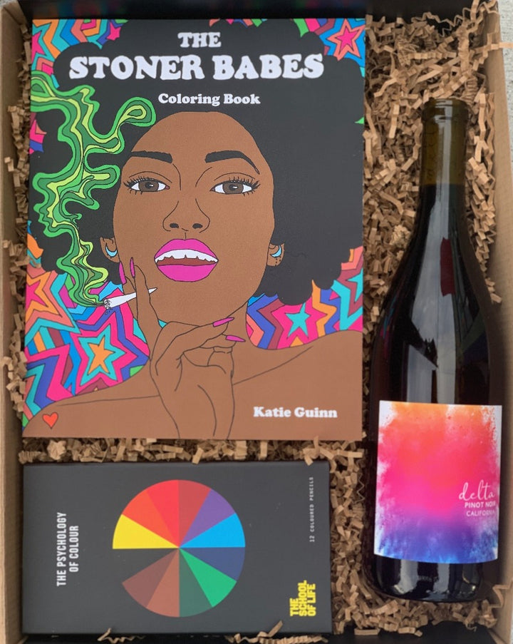 Color all the feelings with this rad set of pencils, a feminist coloring book and a bottle of vino to get you through the night! So, simply choose your color, and we will do the rest!  ***PRODUCTS SHOWN ARE FOR EXAMPLE ONLY!