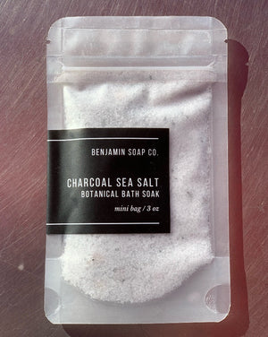 These petit-sized bath salts are hand packed in recyclable plastic bags and contain approximately 3 ounces of bath salts, which is perfect for one or two (super-relaxing) uses. Hoard for yourself, give as a gift, or share with a quarantine buddy!  Contains: sea and epsom salts, pink Himalayan salts, organic clays and / or organic flowers and steam distilled essential oils. Due to the nature of using 100% natural and wild harvested ingredients, the color/texture may vary.