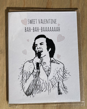 And about getting that song stuck in your head? It's a free bonus. Ya welcome. *This is intended to be a parody of Neil Diamond singing the the song Sweet Caroline.  Printed on 100% recycled white matte cardstock. Comes with a 100% recycled brown paper envelope.