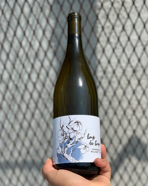 100% Chardonnay. Willamette, Oregon.  Woman winemaker - Julia Baily Gulstine. All natural. Burgundian Style! Regenerative farming. Stone cold, steely mineralogy with a tantalizing zing of lush fruit and a refreshingly dry sense of urgency...so good!.