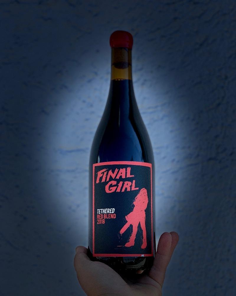 Syrah/Grenache. Santa Ynez Valley, California.  Woman winemaker - Anna Clifford. All natural. Spooky good! Dark and brooding with blood red berries, terrifying tannins, chilling minerality and bone crunching fruit to sink your fangs into.