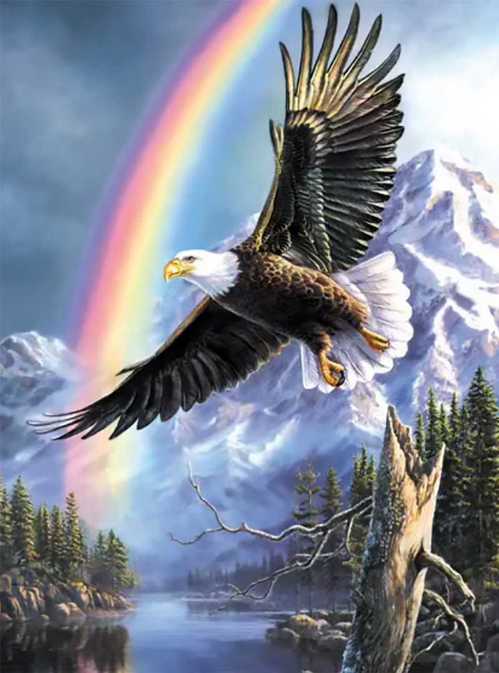Eagle And Rainbow Puzzle