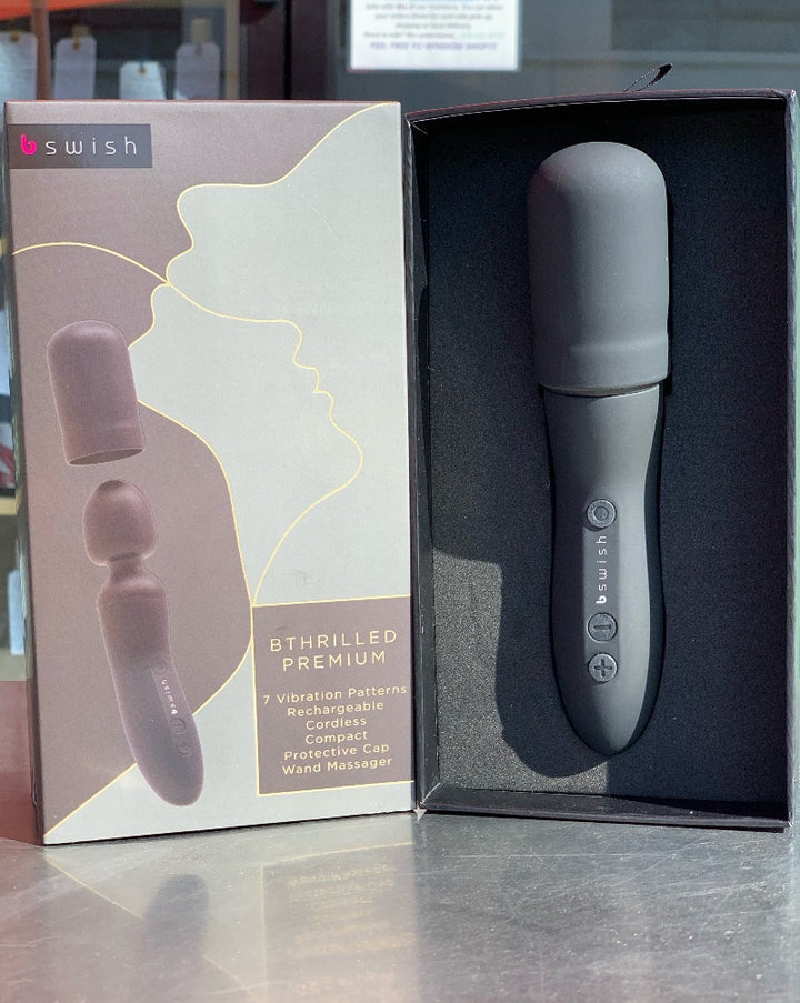 The Bthrilled Premium is all about intuition. Discreet yet powerful, the broad, smooth head of this cordless wand massager was built to deliver intense vibrations and waves of all-over stimulation.  Featuring waterproof construction for inspired play and next level self-care, the expertly engineered neck flexes gently to ease unwanted friction and overstimulation.