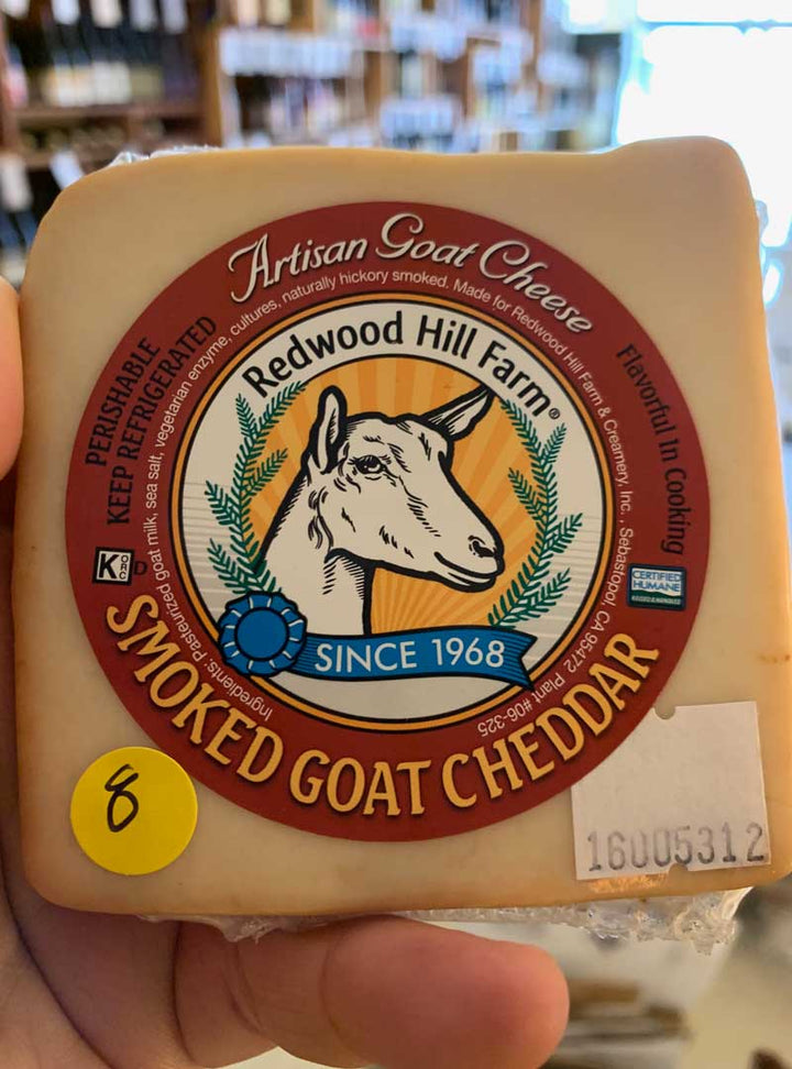 Redwood Smoked Goat cheddar