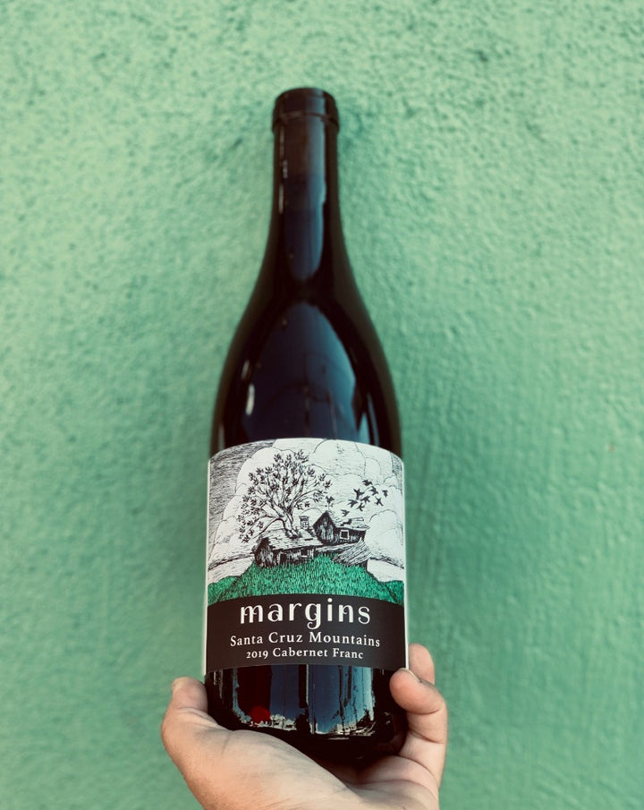 100% Cabernet Franc. Santa Cruz, California.  Woman winemaker - Megan Bell. All natural. We are crushing hard on this totally crushable, fruit powered, earthy, magical Cabernet Franc. Juicy red wine lapping on sandstone shore with a cool breeze in your mouth.