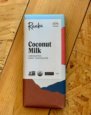 Raaka Coconut Milk Chocolate Bar