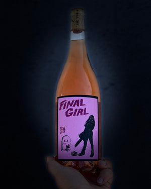 100% Merlot Santa Ynez Valley, California. Woman winemaker - Anna Clifford. All natural. For the final girl standing when the last drop of wine hits the floor. Bone chillingly fresh. A strawberry and basil monster mash that will make you scream... for more!