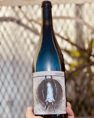 Schwarzriesling (Pinot Meunier). Kitzingen, Germany  Lady winemaker - Melanie Drese. All natural. Very limited! Chillable red. Rhubard + cassis. Cherry grapefruit compote fizz. Spicy, funky, earthy, wild and lovely.