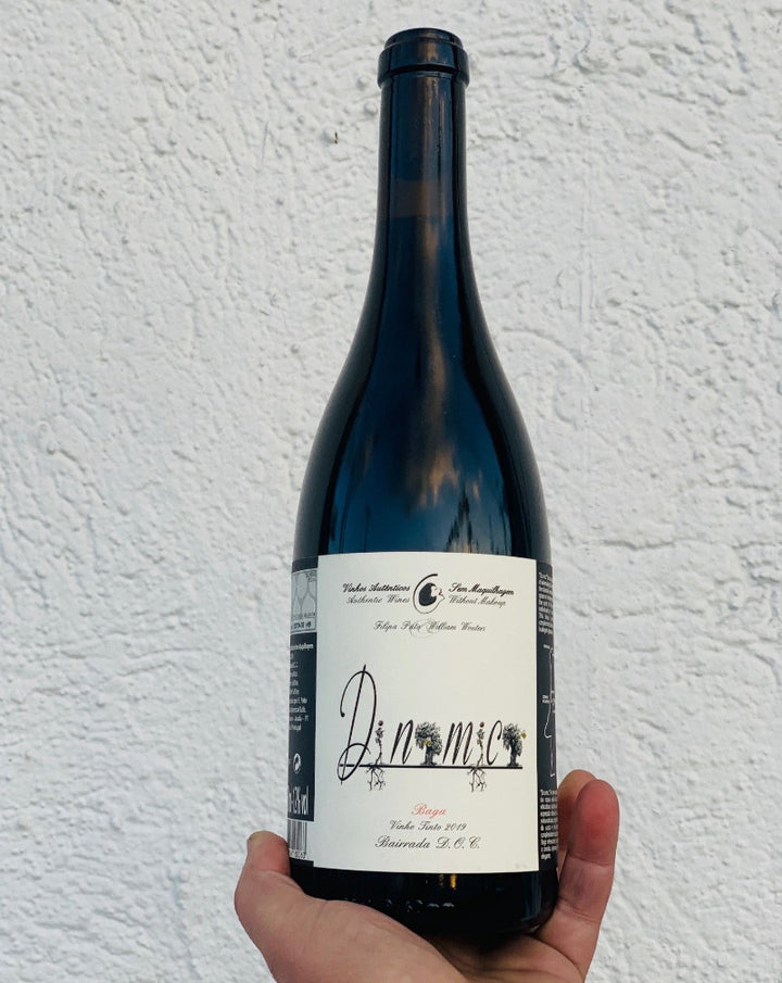 100% Baga. Bairrada, Portugal.  Woman winemaker - Filipa Pato. All natural. Lush + velvety. A grocery bag of red fruit + spice. Cherry bomb and blueberry fireworks. Anise + cassis. Cranberry cracker. Dry cloves. Pepper sprinkles.