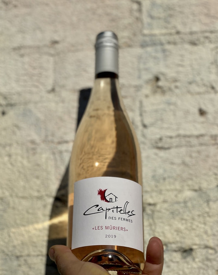 """Les Mûriers Upper Aude Valley, France.  Woman winemakers - Florence Terrier & Caroline Collouray. All natural. Perfect picnic crusher. Light & fresh w/ a tickle of minerality, and a zap of raspberry & dry."