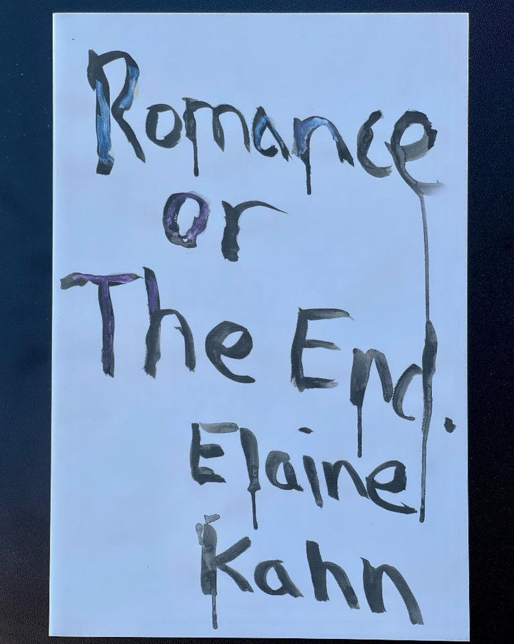 Romance or The End takes up the tools of romantic narrative in order to perform the rupture between self and story that occurs at the onset of trauma. Using known and pathologized literary arcs, Elaine Kahn unspools the fundamental instability of truth, love, and language to create an experiential portrait of narrative's power to both disfigure and restore.