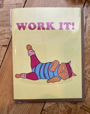 Work It! Greeting card. Blank inside.
