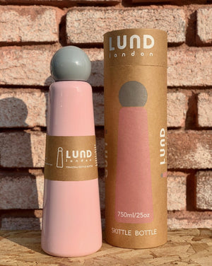 Lund London Skittle Pink and Grey Wine Flask Bottle 750ml