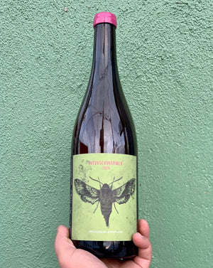 75% Grauburguder. 25% Riesling. Kitzingen, Germany  Lady winemaker - Melanie Drese. All natural. Orange wine. Bone dry!! Cinnamon apple pie pop tarts. Salted tomato. Intoxicating and exotic spices. Cider vibes. LIMITED!!!