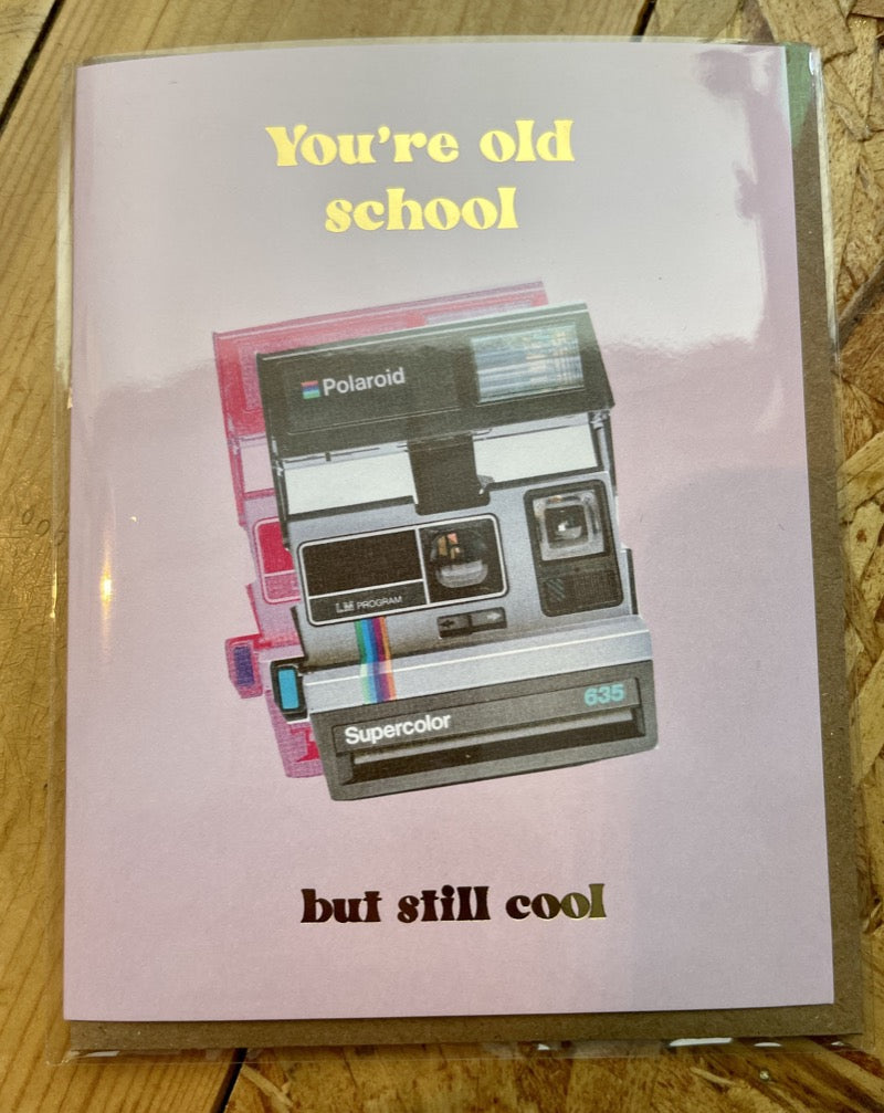 Old School Camera Greeting card.