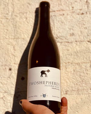 45% Roussane. 30% Marsanne. 20% Viognier. 5% Grenache Blanc. Russian River California.  Woman winemaker - Karen Daenen. All natural. Golden Apples dipped in citrus salt with a dollop of lavender cream. Bottle aged for four years!!!! Soft texture and a crispy bright bite.