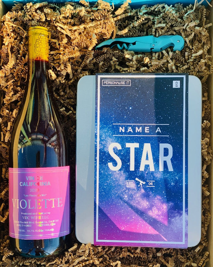 This super cool gift gives you the opportunity to name a real star in our night sky and drink some limited and crushable chilled red wine. This tin pack comes brimming with facts about stars and astronomy, as well as fun infographics to make the gift perfect for the whole family. Additionally, after a simple online registration you will receive a personalized star deed certificate.