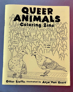 Lesbian lizards, gay orgies of manatees, polyamorous oystercatchers, trans clownfish, bisexual red deer, and masturbating bonobos! This coloring book celebrates the diversity of animals and the way our beautiful queer communities exist far beyond the realms of human culture. This entertaining and educational resource, created by trans woman and ecologist Otter Lieffe, and richly illustrated by Anja Van Geert, liberates this knowledge and helps free us all to express our true selves.